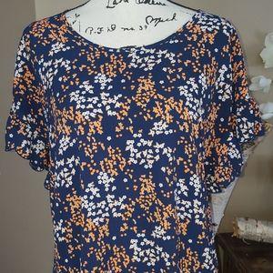 Michael michael Kors blouse floral print size S